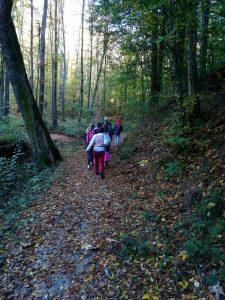 Sedmošolci po gozdni učni poti Panovec