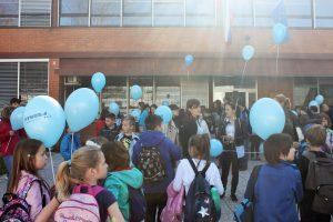 Pohod z modrimi baloni